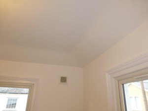 VSM Painting and decorating image of a ceiling and walls with paint finish