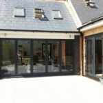 VSM Property Services residential extension with exterior paving