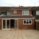 VSM Property Services residential extension with paving